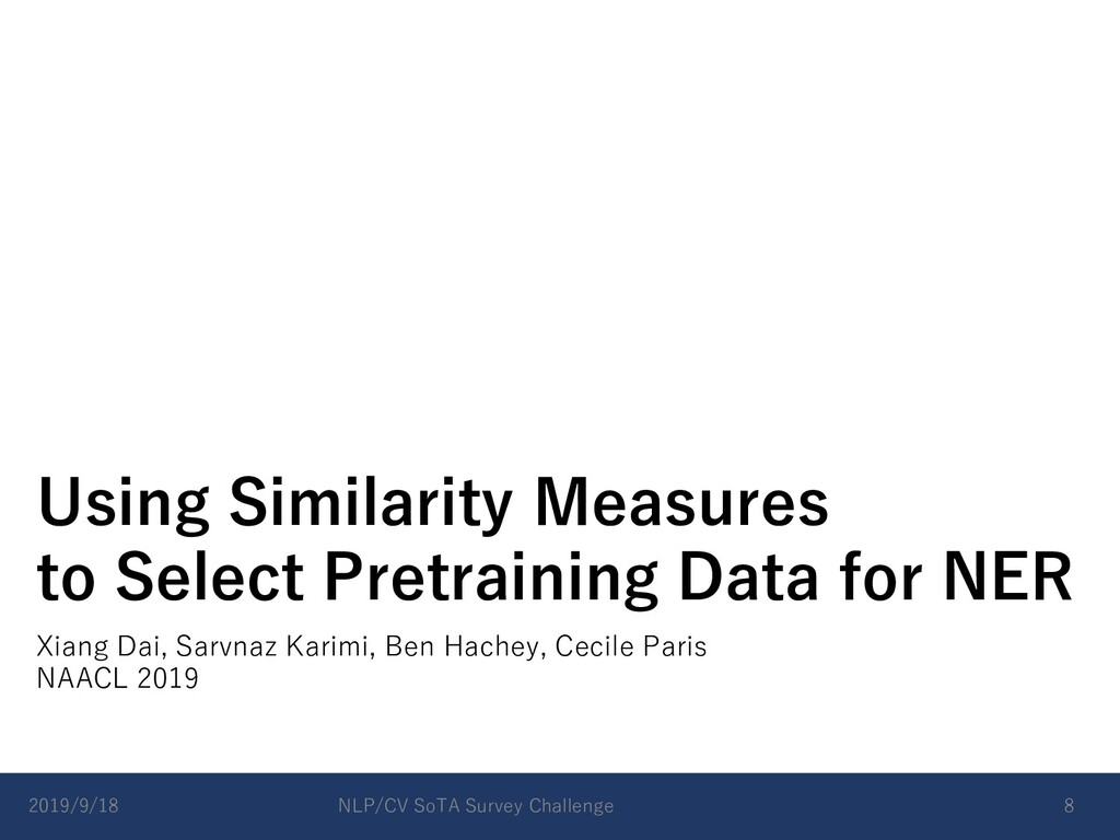 Using Similarity Measures to Select Pretraining...