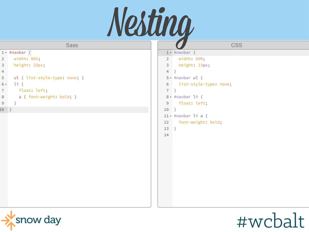 Nesting #wcgr #wcbalt