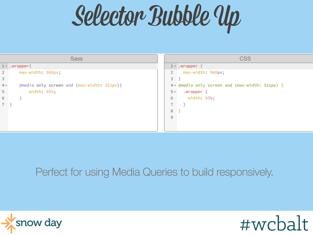 Selector Bubble Up Perfect for using Media Quer...