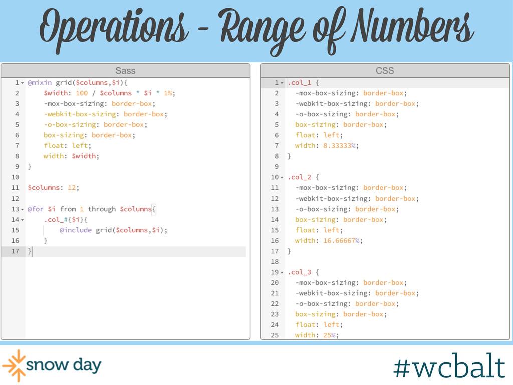 Operations - Range of Numbers #wcgr #wcbalt