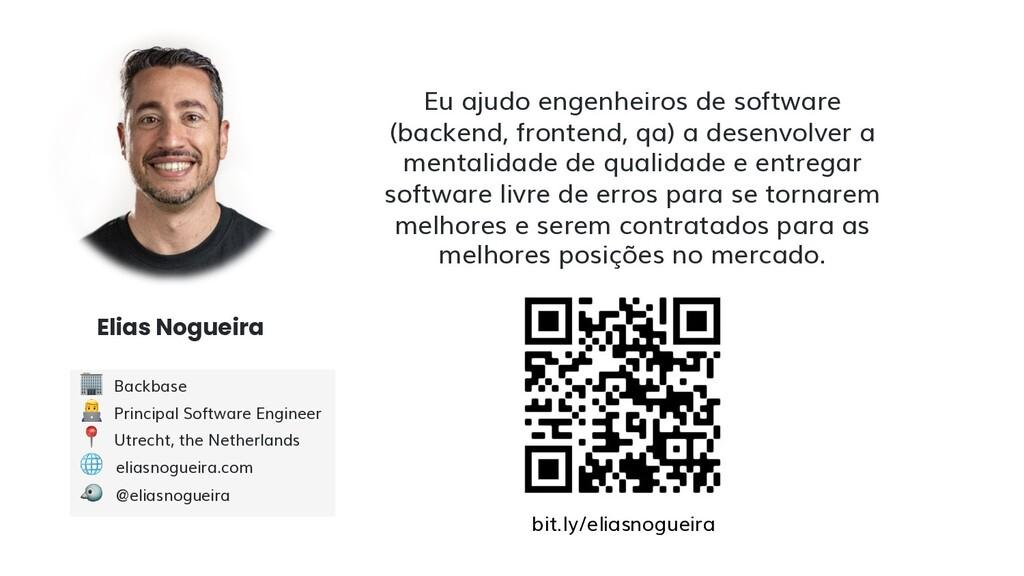 Elias Nogueira Eu ajudo engenheiros de software...