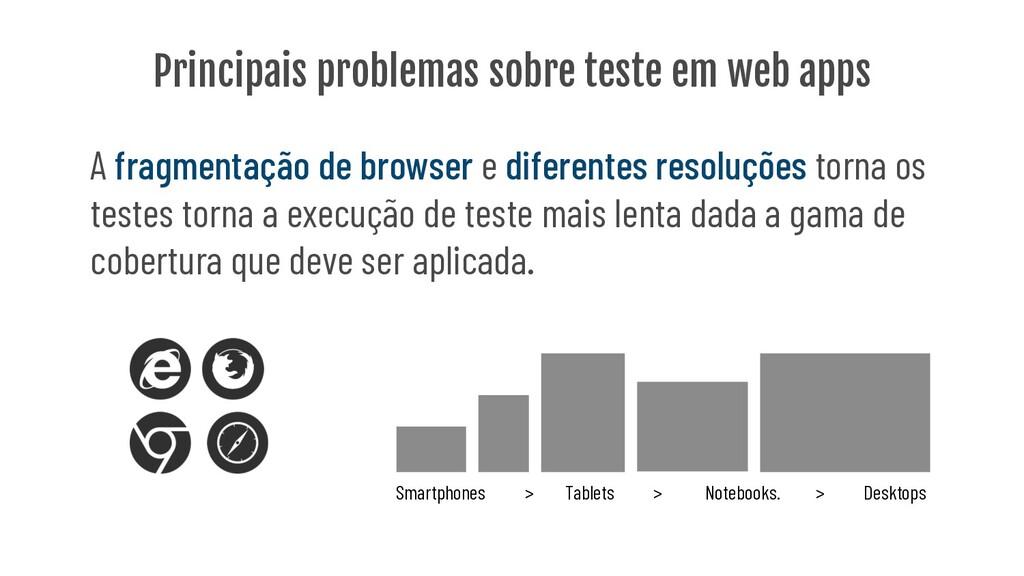Principais problemas sobre teste em web apps A ...