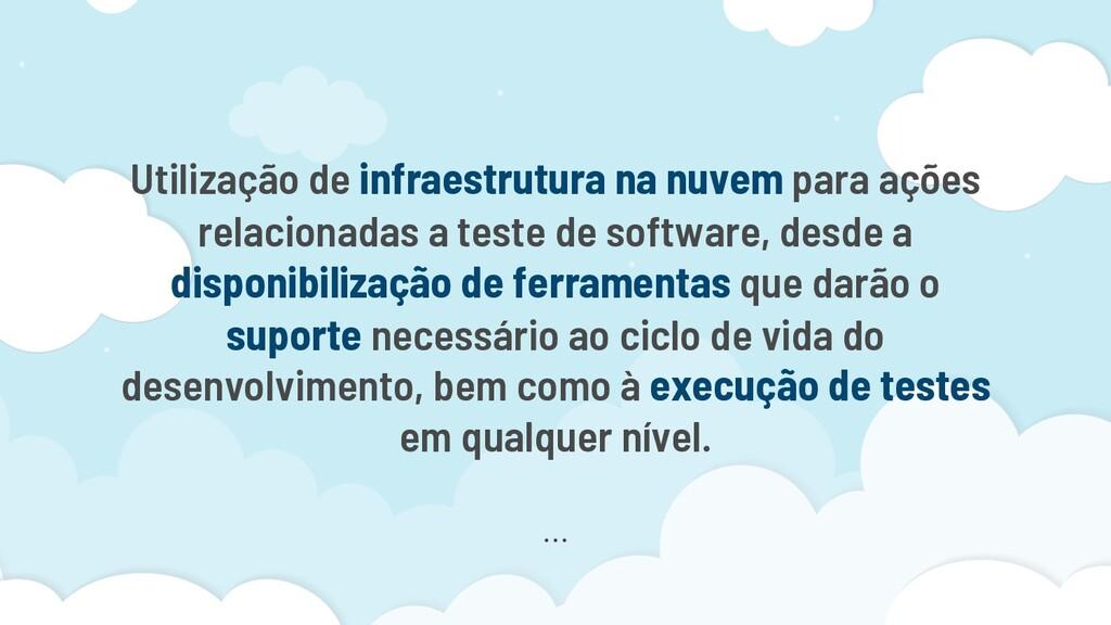 Utilização de infraestrutura na nuvem para açõe...