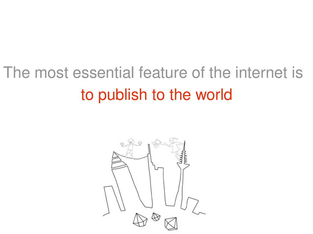 The most essential feature of the internet is t...