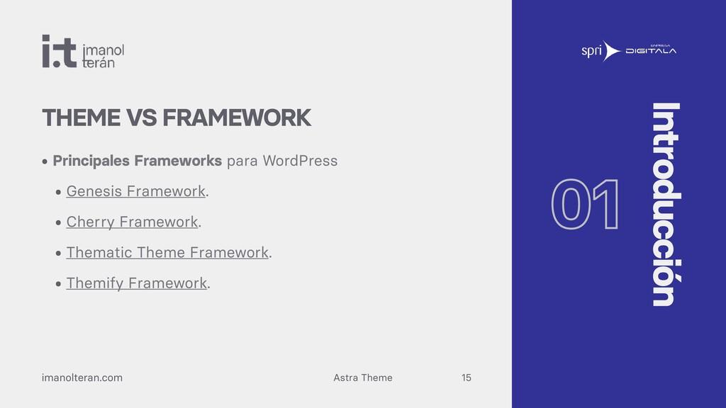 Astra Theme imanolteran.com • Principales Frame...