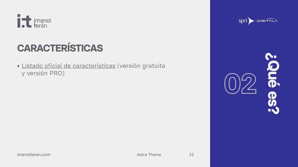 Astra Theme imanolteran.com • Listado oficial d...