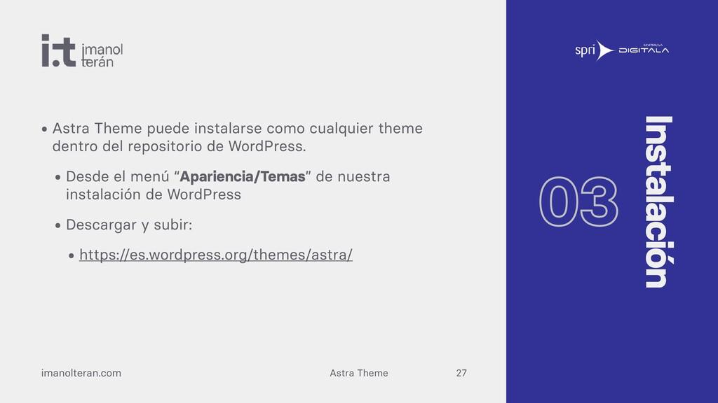 Astra Theme imanolteran.com • Astra Theme puede...