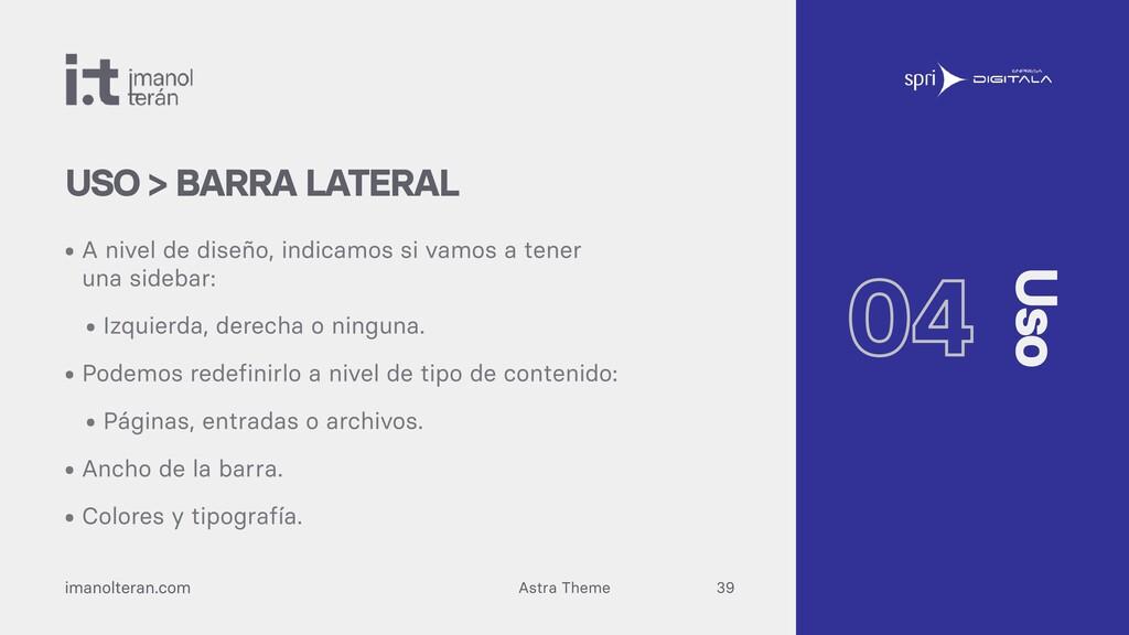Astra Theme imanolteran.com • A nivel de diseño...