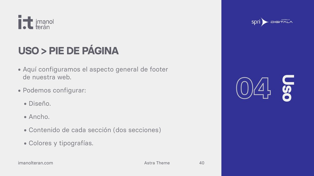 Astra Theme imanolteran.com • Aquí configuramos...