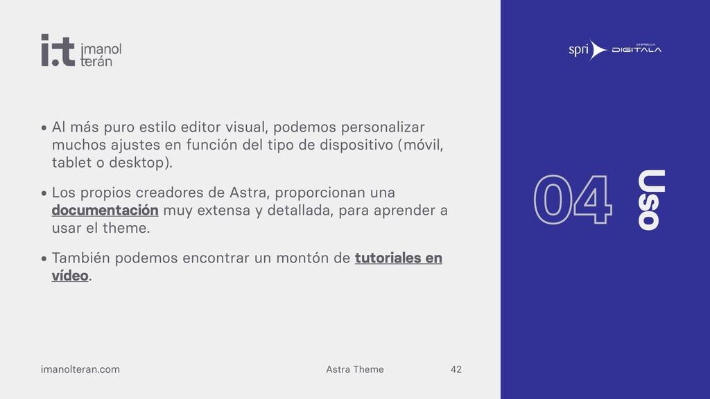 Astra Theme imanolteran.com • Al más puro estil...