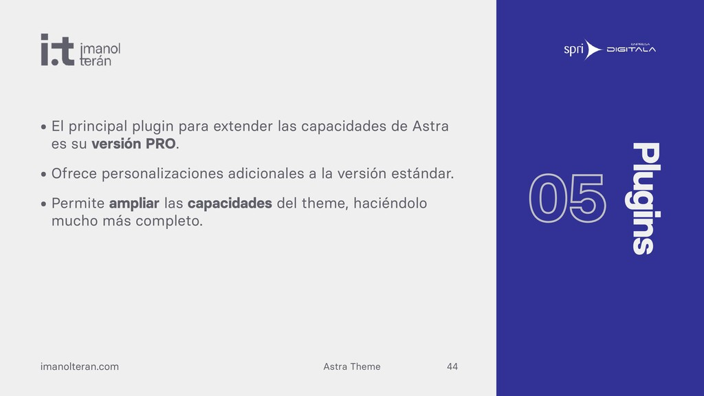 Astra Theme imanolteran.com • El principal plug...