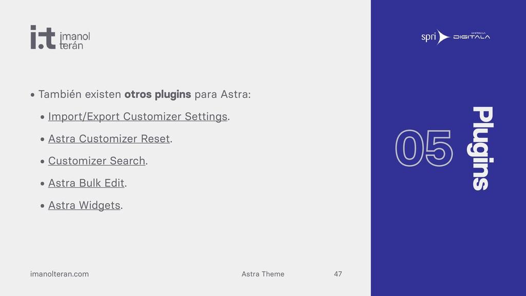 Astra Theme imanolteran.com • También existen o...