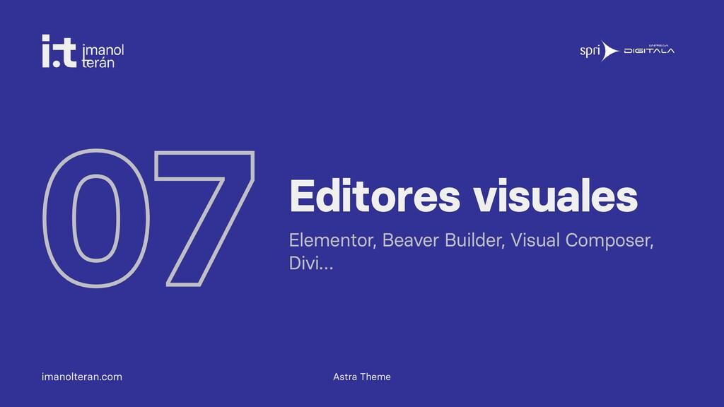 imanolteran.com 07 Editores visuales Elementor,...