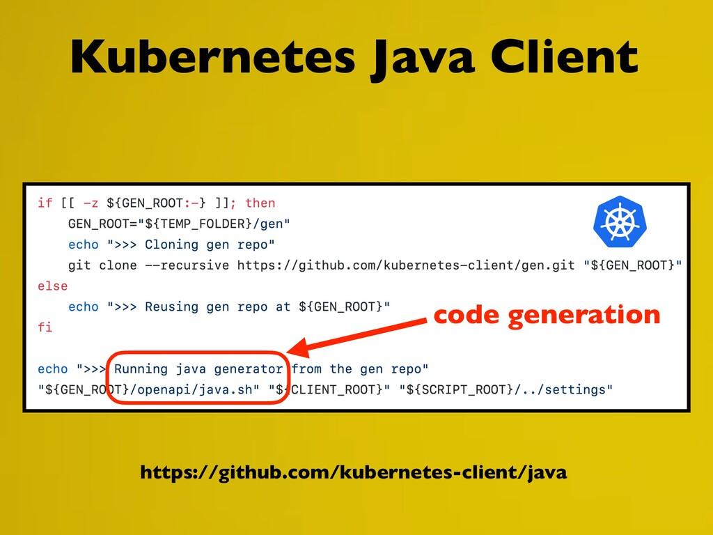 https://github.com/kubernetes-client/java Kuber...