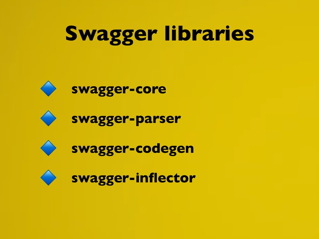 Swagger libraries swagger-core swagger-parser s...