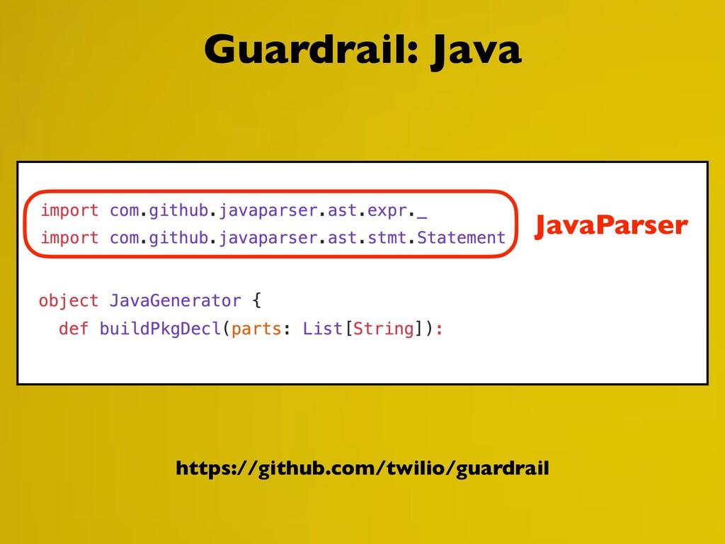 https://github.com/twilio/guardrail Guardrail: ...