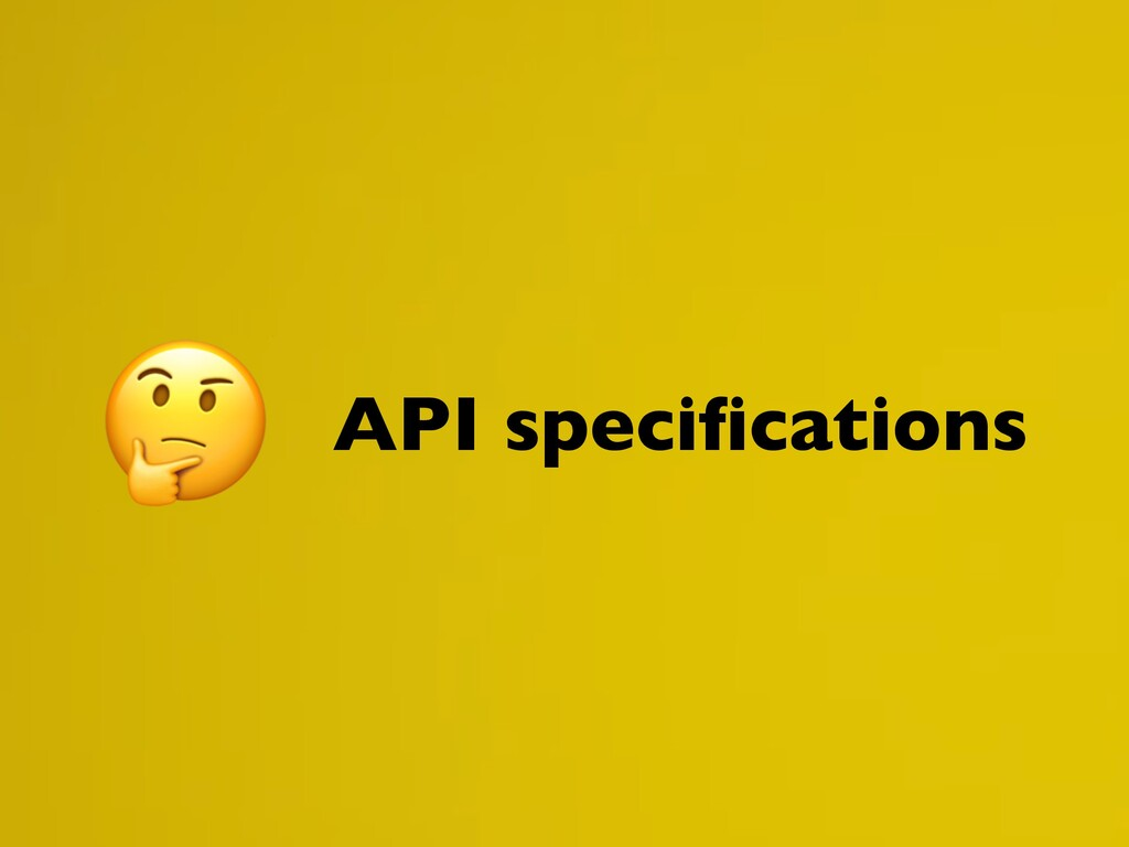 API specifications