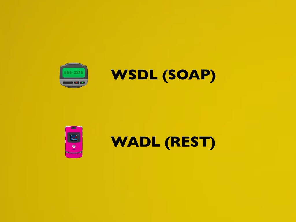WSDL (SOAP) WADL (REST)
