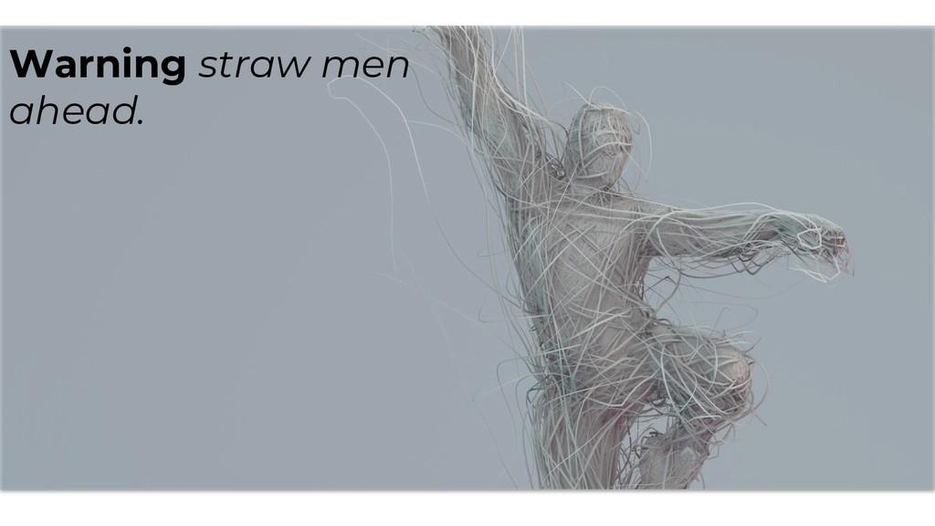 Warning straw men ahead.