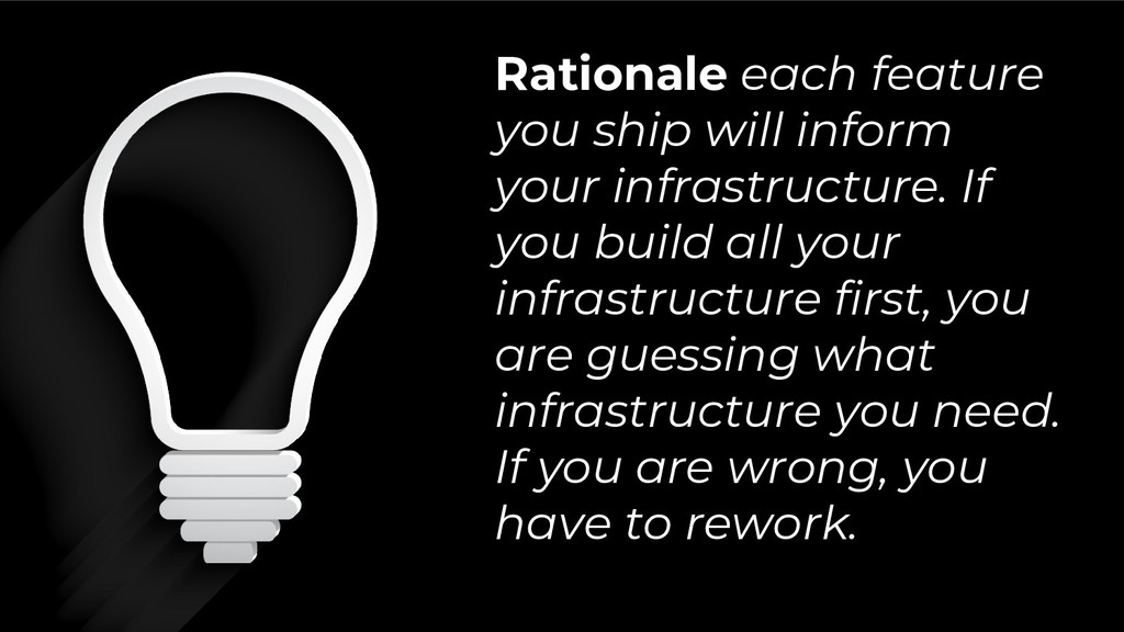 Rationale each feature you ship will inform you...