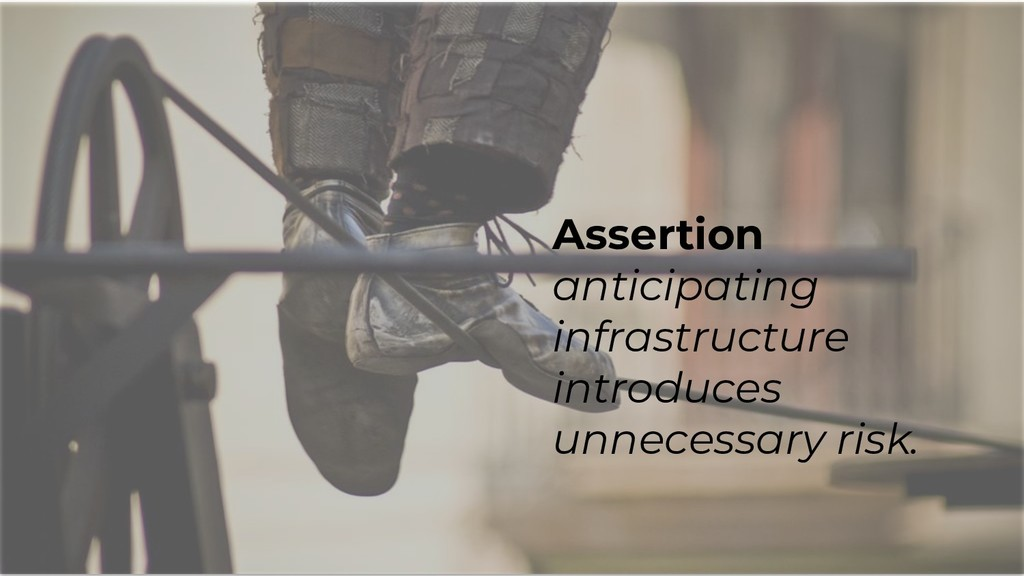 Assertion anticipating infrastructure introduce...