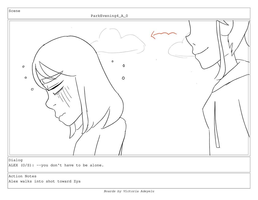 Scene ParkEvening4_A_0 Dialog ALEX (O/S): --you...