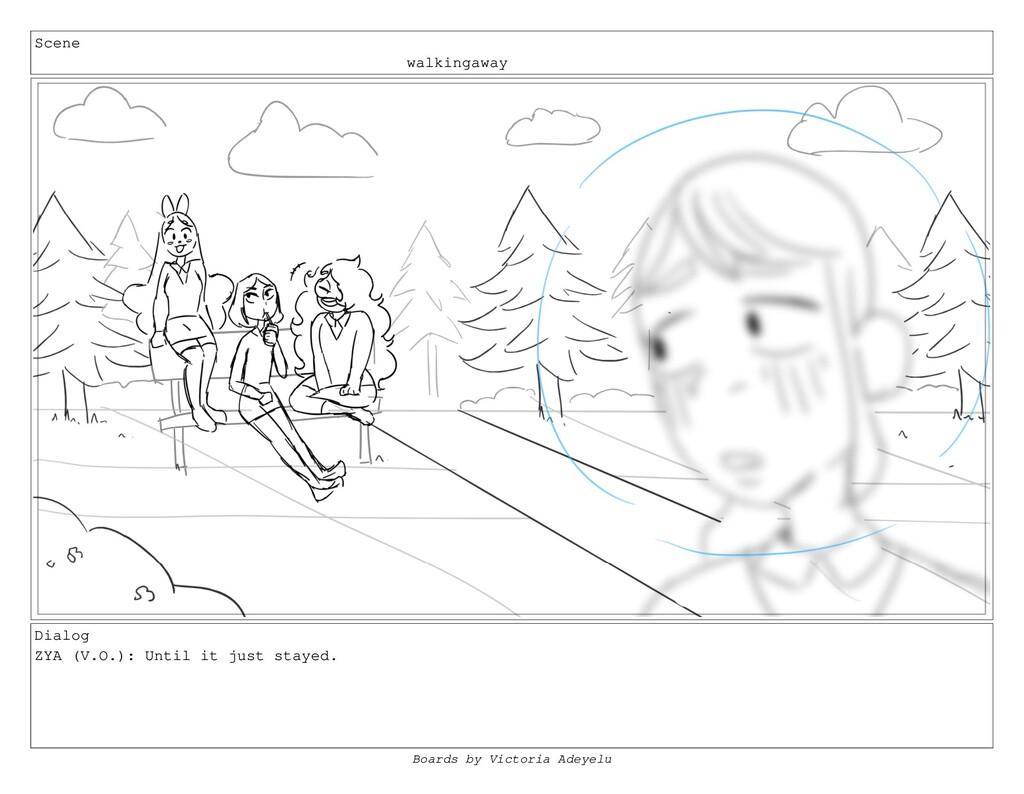 Scene walkingaway Dialog ZYA (V.O.): Until it j...