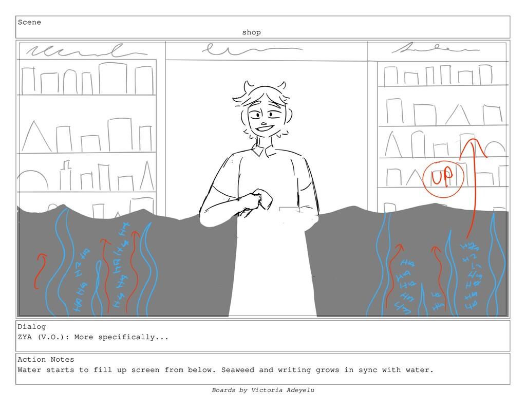 Scene shop Dialog ZYA (V.O.): More specifically...