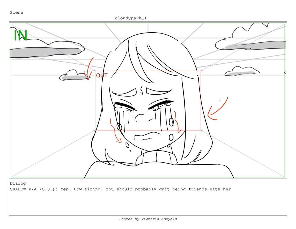 Scene cloudypark_1 Dialog SHADOW ZYA (O.S.): Ye...