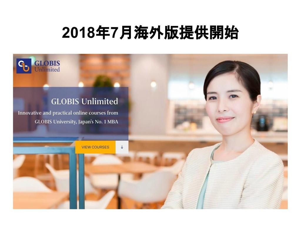 2018年7月海外版提供開始