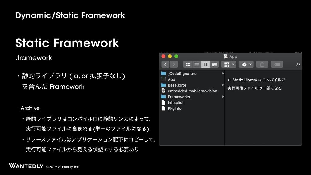 ©2019 Wantedly, Inc. Static Framework .framewor...