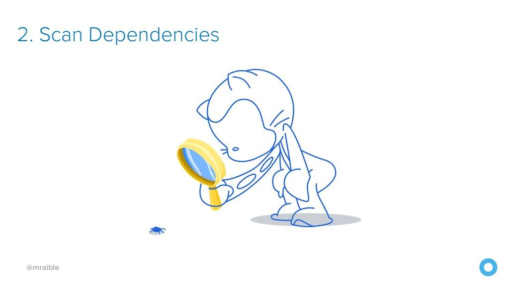 @mraible 2. Scan Dependencies