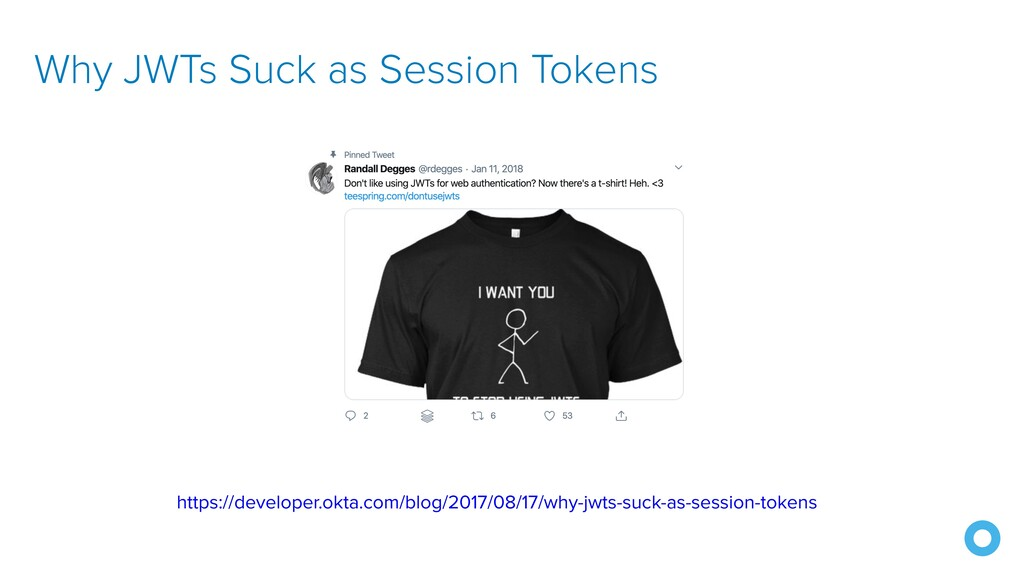 Why JWTs Suck as Session Tokens https://develop...