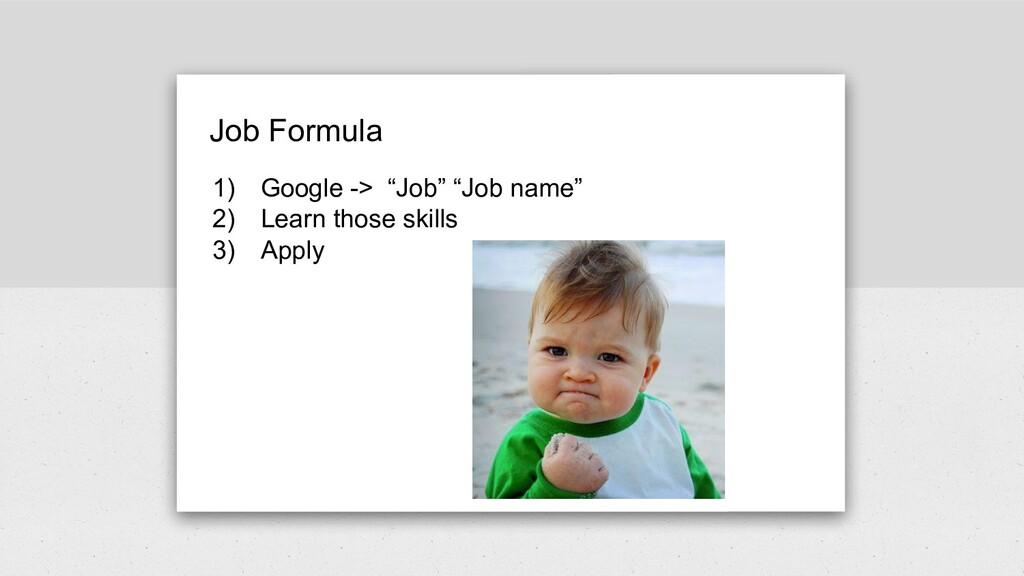 """Job Formula 1) Google -> """"Job"""" """"Job name"""" 2) Le..."""