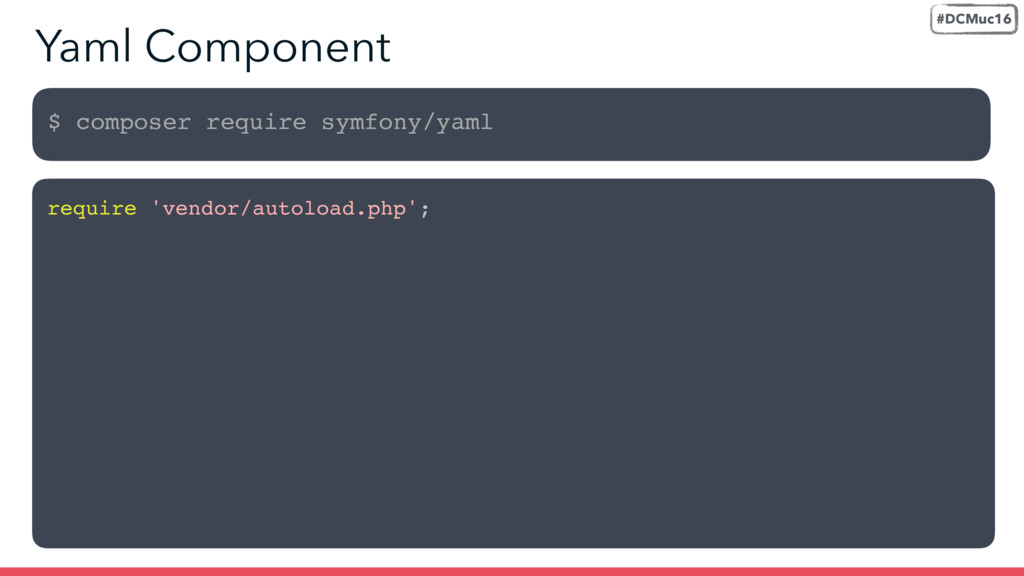 $ composer require symfony/yaml require 'vendor...