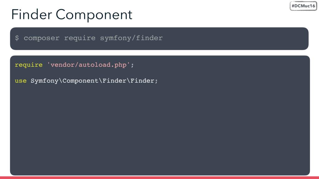 $ composer require symfony/finder Finder Compon...