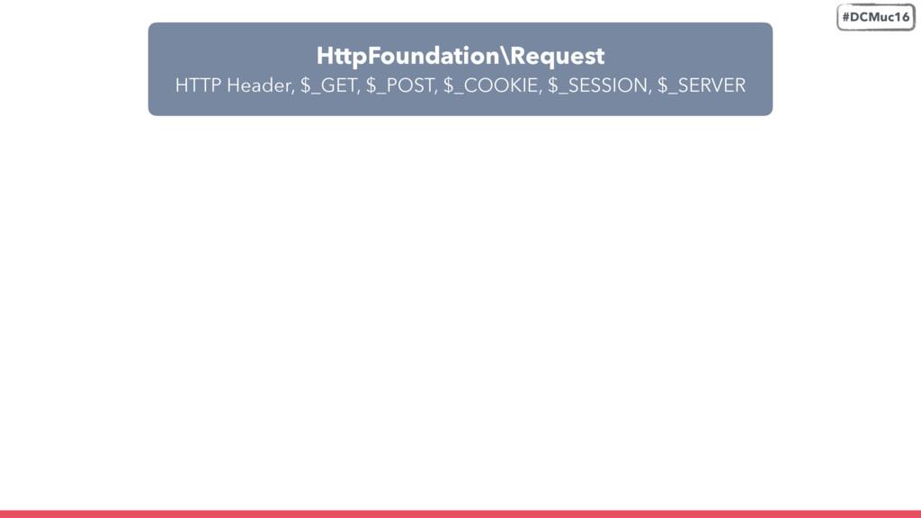 HttpFoundation\Request HTTP Header, $_GET, $_P...