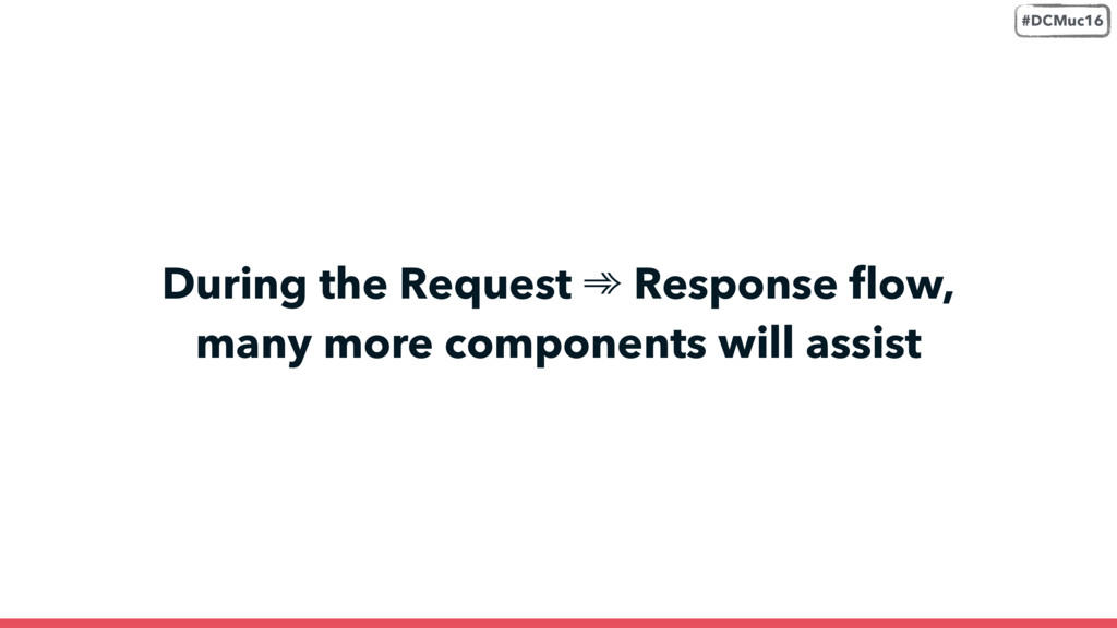 During the Request ➾ Response flow,