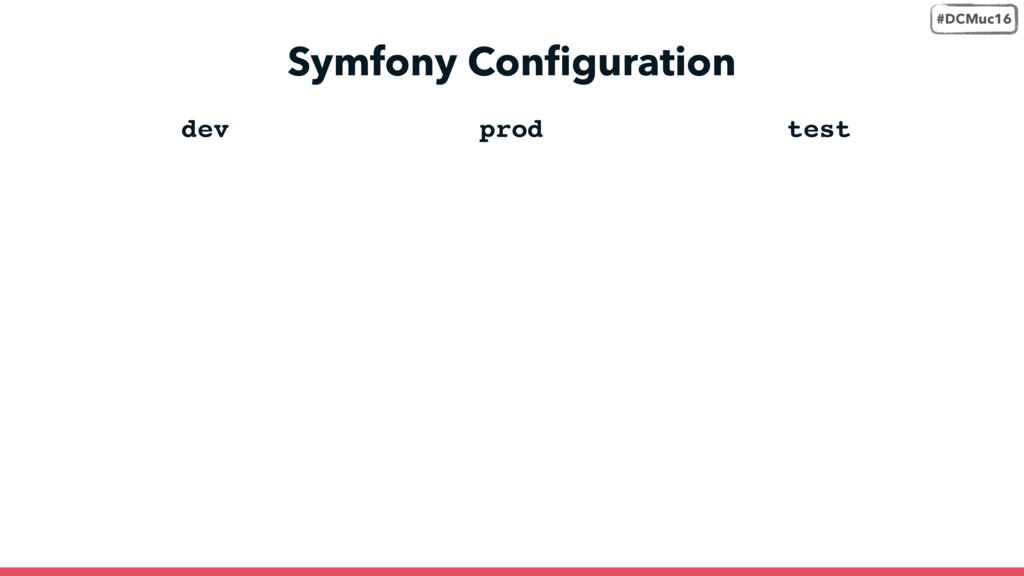 Symfony Configuration dev prod test #DCMuc16