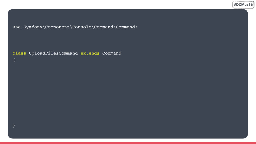 use Symfony\Component\Console\Command\Command; ...