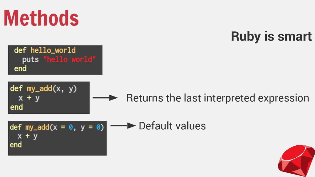 Methods Returns the last interpreted expression...