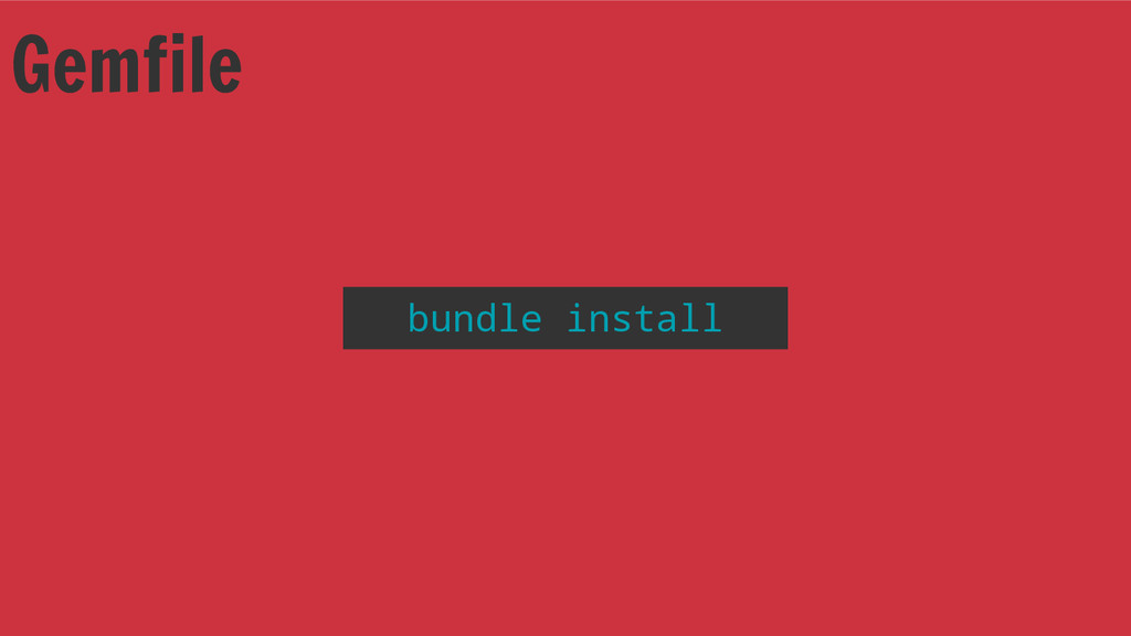 Gemfile bundle install