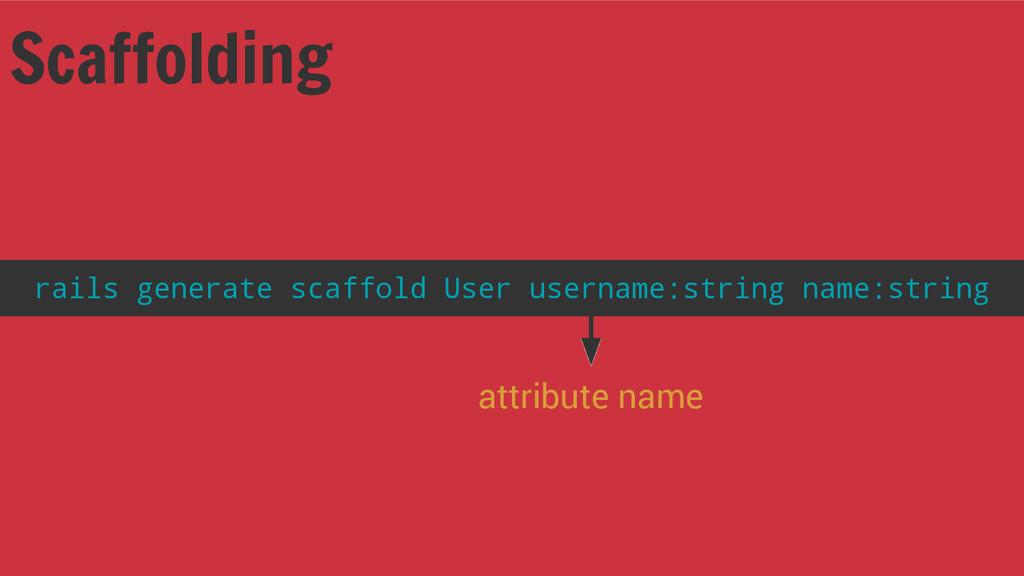Scaffolding rails generate scaffold User userna...
