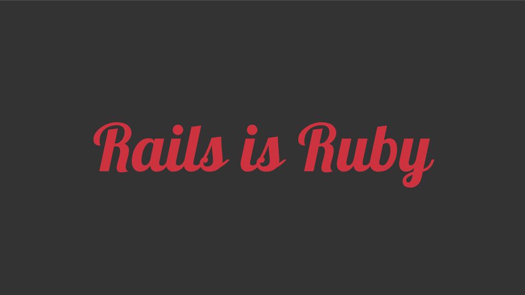 Rails is Ruby