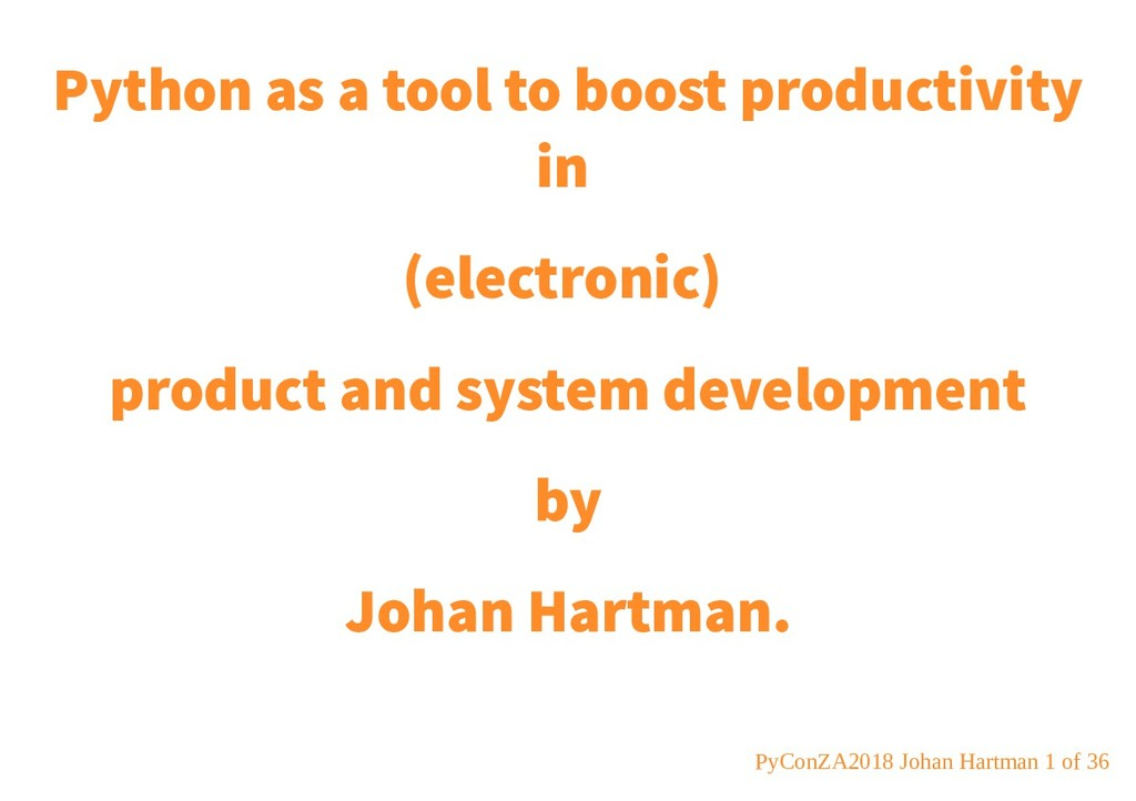 Python as a tool to boost productivity in (elec...