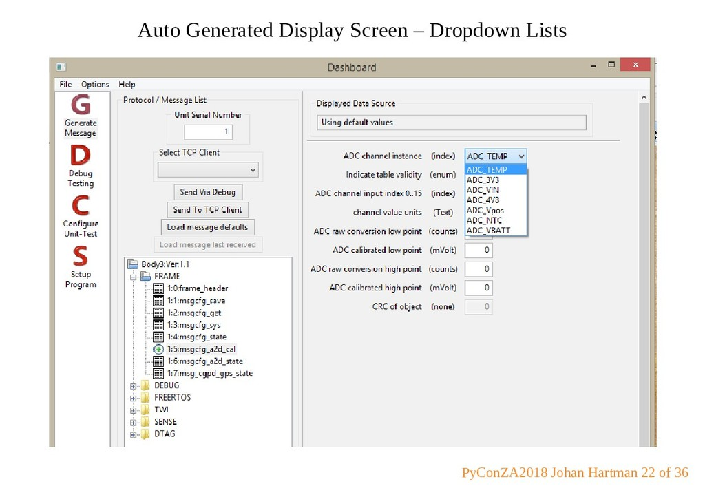 Auto Generated Display Screen – Dropdown Lists ...
