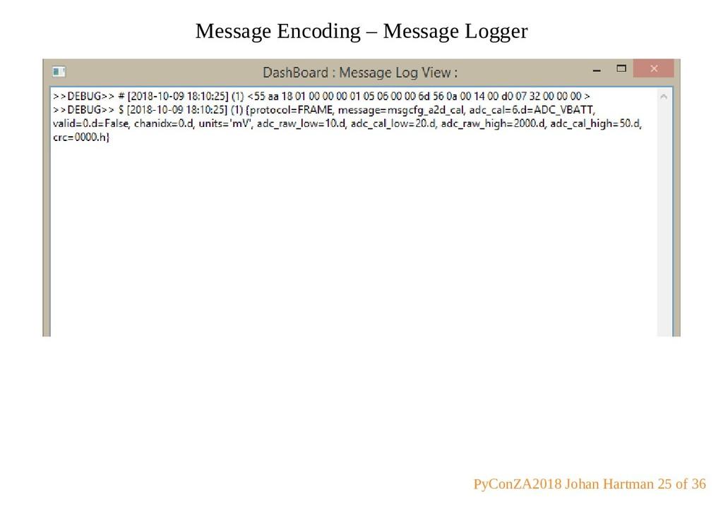 Message Encoding – Message Logger PyConZA2018 J...