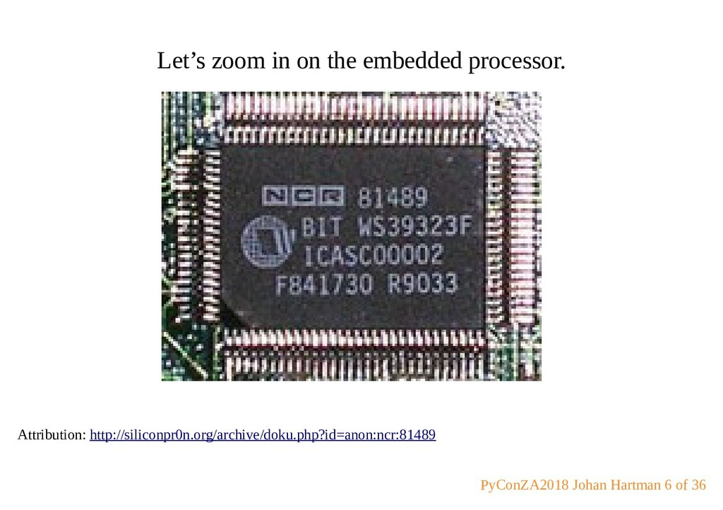 Let's zoom in on the embedded processor. Attrib...