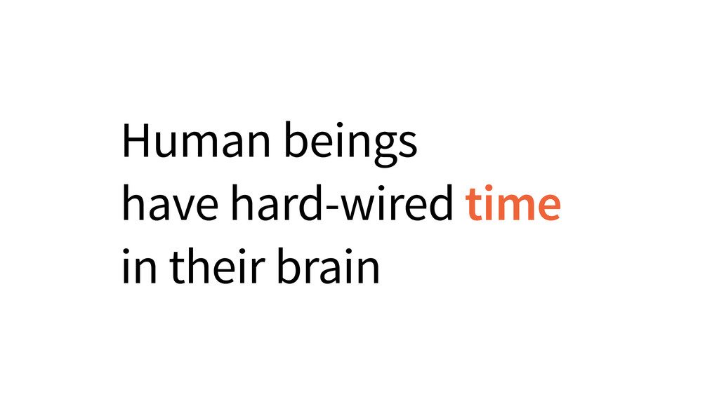Human beings have hard-wired time in their brain