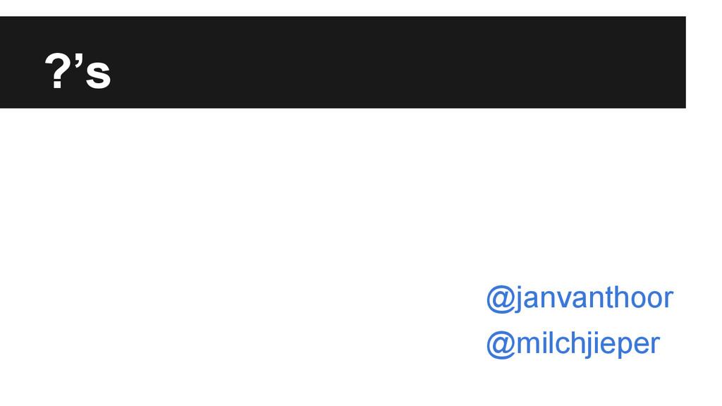 ?'s @janvanthoor @milchjieper